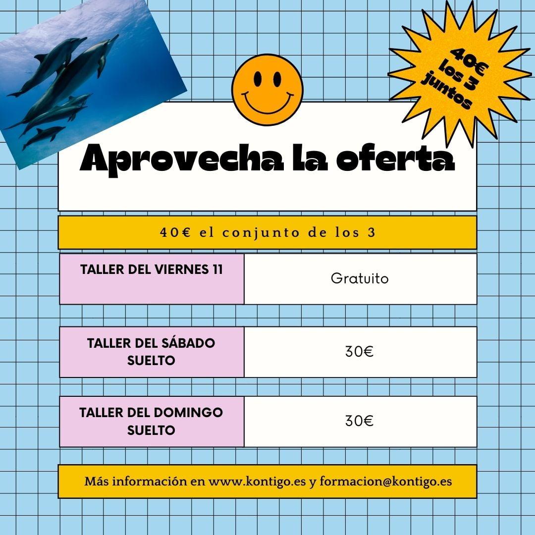 Workshop, trabajo con delfines